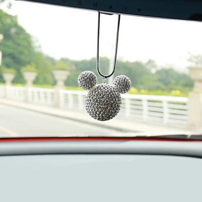 Car Bling Charm- Mouse Ear Shaped Pendants with Rhinestones