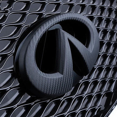 INFINITI Chrome Logo Emblem Carbon Fiber Pattern Badge Symbol