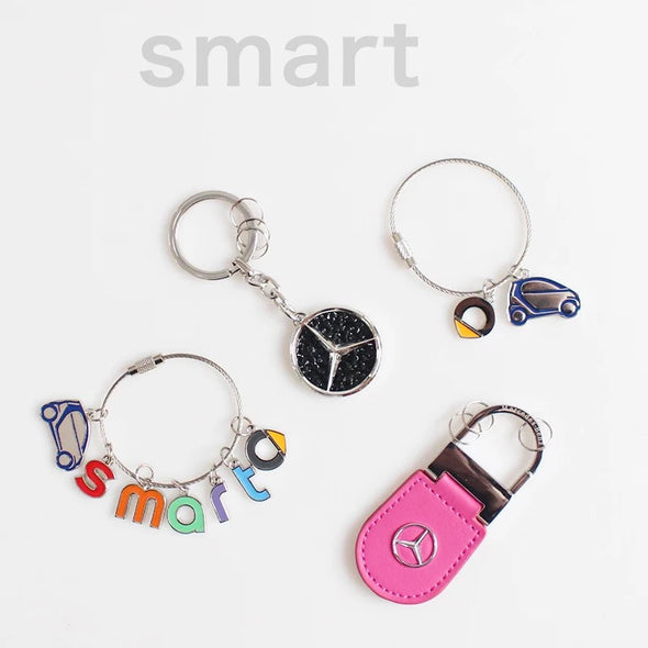 SMART Mercedes Benz Car Key Chain Keychain Key Ring Holder