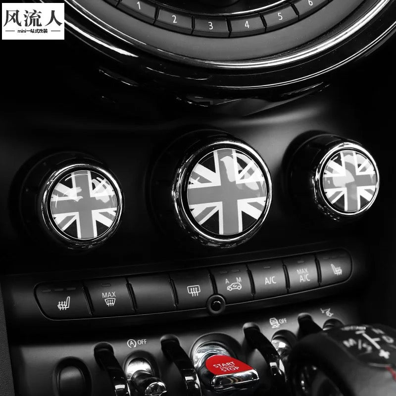 Mini Cooper Ac Control Buttons 3d Crystal Sticker Decal