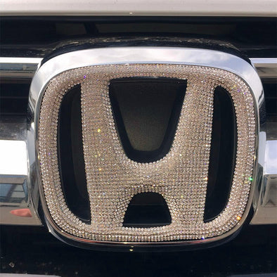 HONDA Bling LOGO Front or Rear Grille Emblem Decal Made w/ Rhinestone Crystals
