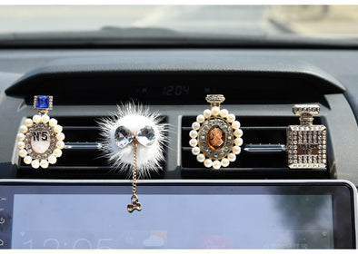 Girly Bling Crystal Rhinestone Car Air Vent Bling Decoration Accessories