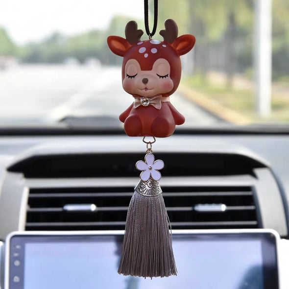 Deer car charm pendant Christmas Decor for rearview mirror