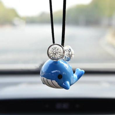 Whale car charm pendant - Cute Decor for rearview mirror