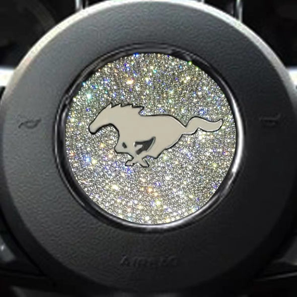 Bling Ford Mustang Emblem for Steering Wheel LOGO Sticker Decal