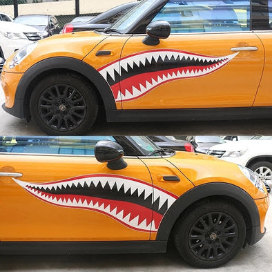 Mini Cooper Shark Decal Cool Sticker