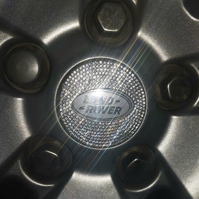 Bling Range Rover/Land Rover/Discovery LOGO Stickers for Tire wheel Center Caps Emblem Decal Made w/ Rhinestone Crystals