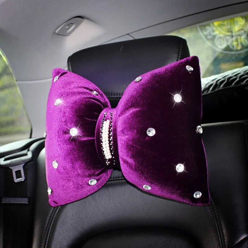 Purple Decorative Pillows for Car Head Rest - Carsoda