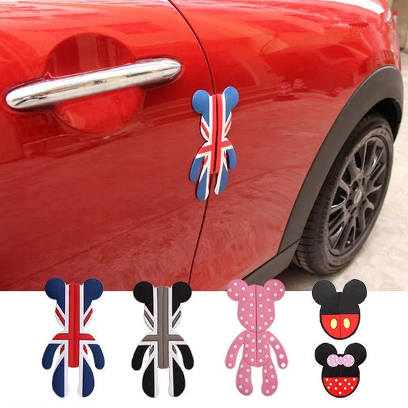 POPOBE Bear Mini Cooper Door Protector Side Edge Protection Guards Sticker (1pc)