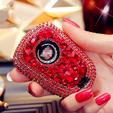 Red Bling Car Key Holder with Rhinestones for Cadillac ATS-L CT6 XTS XT5 XT6 CTS SRX