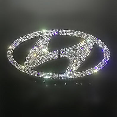 Hyundai Bling LOGO Front and Rear Grille Emblem w/ Rhinestone Crystals