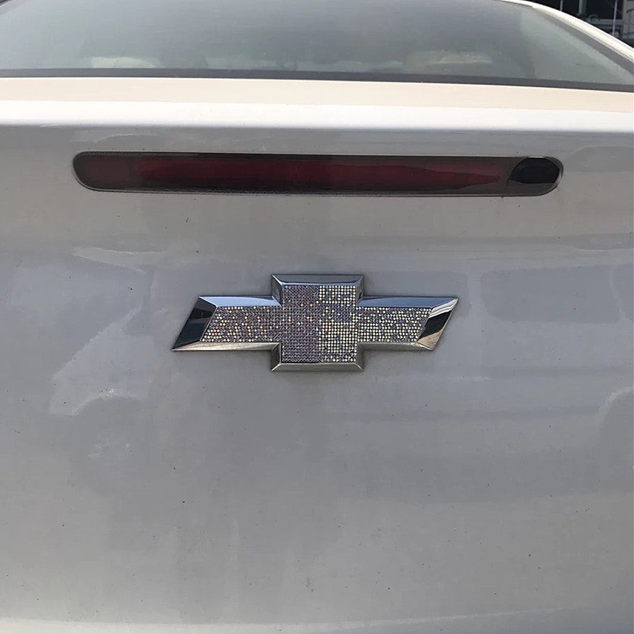Chevrolet Chevy Bling Rhinestone Front Grill or Rear LOGO Emblem Sticker  Decal