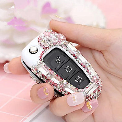 Ford Crystal Bling Car Key FOB Holder with Rhinestones