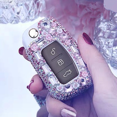 Ford Bling Car Key FOB Holder with Rhinestones - for Focus, max, mk7, Ecosport, Mondeo and etc