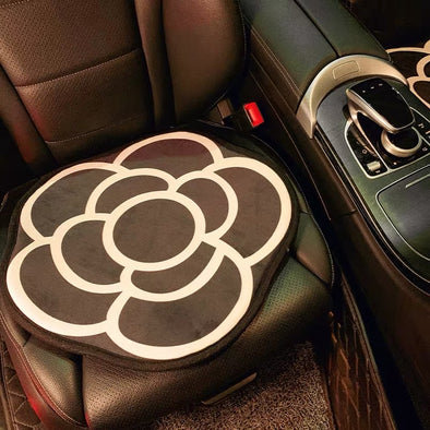 Camellia Flower Elegant Car Seat Cover Cushion Pad