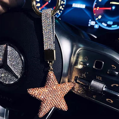 Bling Star Car Keychain Pendant - Universal fitting