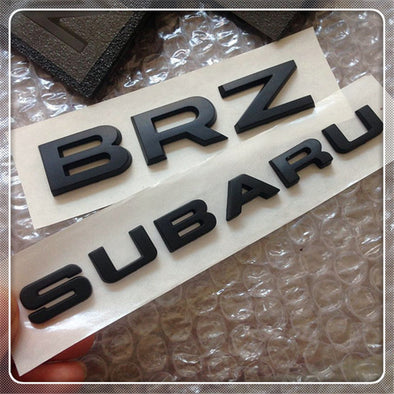 SUBARU BRZ Black Chrome Logo Emblem Badge Symbol Matte or Gloss