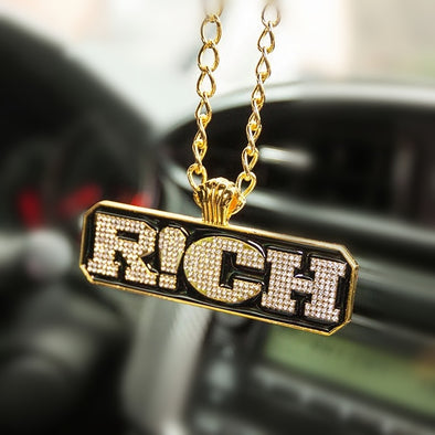 Hiphop Rich Pendant Car Mirror Hanging Charm