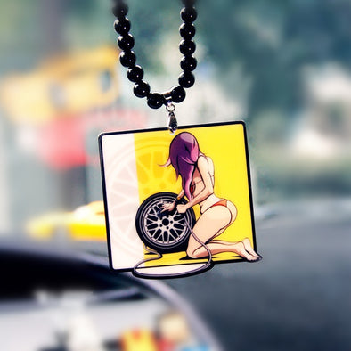 Hiphop Car Mirror Hanging Pendant - Sexy Girl