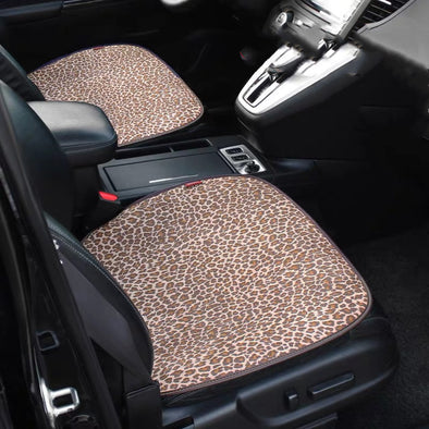 Leopard Pattern Car Leather Seat Cover Cushion Pad