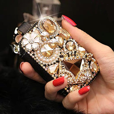 Universal Bling Car Key Holder Case with Rhinestones