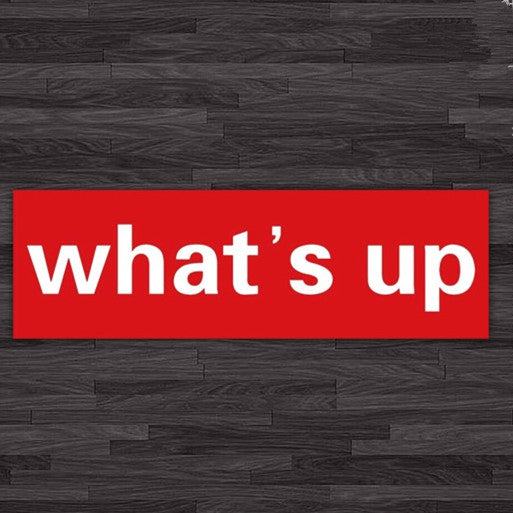 What's Up Decal Mini Sticker