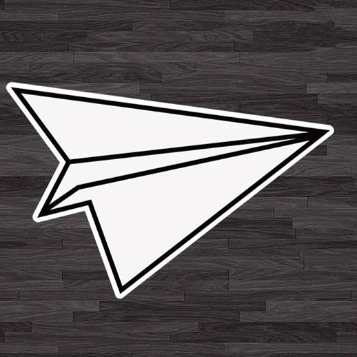 Paper Airplane Decal Mini Sticker
