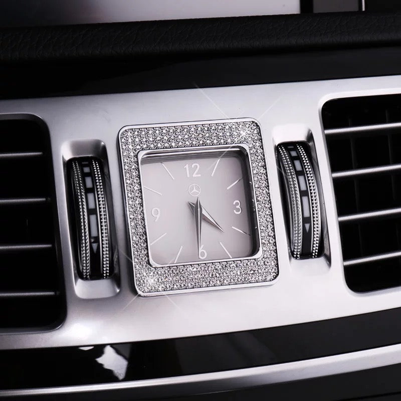 Bling Mercedes Benz Emblem For Center Clock Crystal Decal