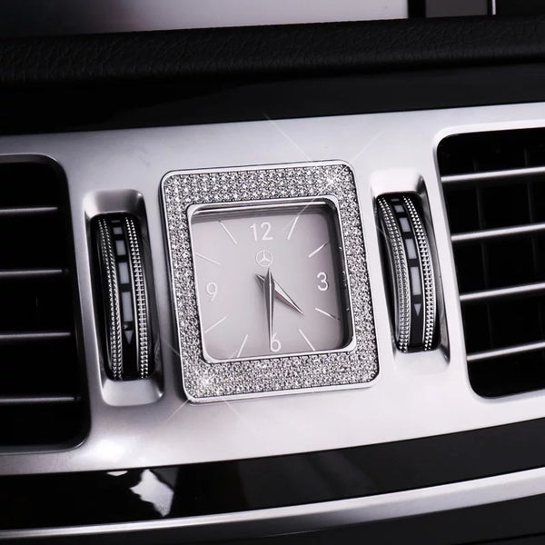 Bling Mercedes Benz Emblem for Center Clock Crystal Decal Decor - E class