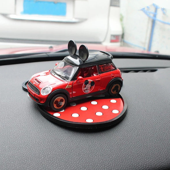 Mini Cooper Dashboard Cute Micky Minnie Silicone Car Model Decoration