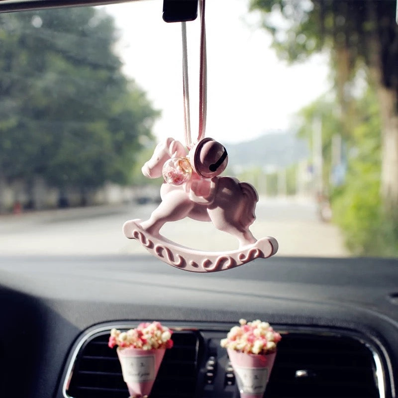 Little Pony Car Mirror Charm with Bell and Scent for Rear View
