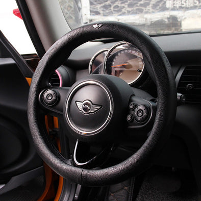 Genuine leather Mini Cooper LOGO Countryman Steering wheel cover