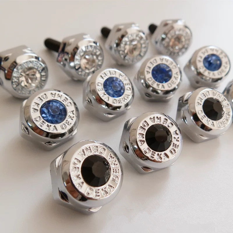 Bling Your Ride Rhinestone Screw And Cap Set For Crystal