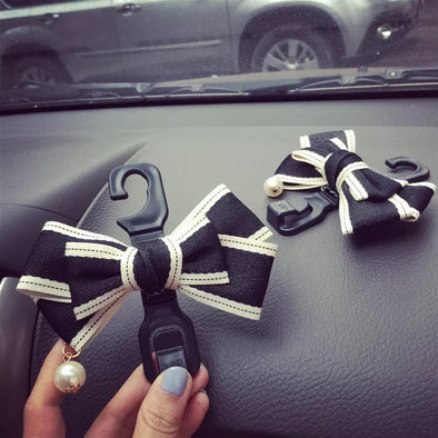 Car Seat Hooks Hanger for Girls with Cute bow (1 piece)