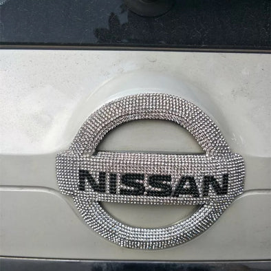 Bling Nissan LOGO Front or Rear Grille Emblem Decal Made w/ Rhinestone Crystals