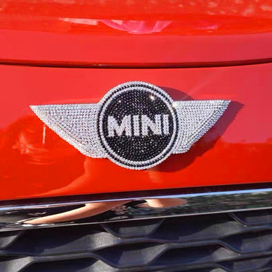 Bling MINI Cooper Grill Emblem Front or Rear LOGO Decal