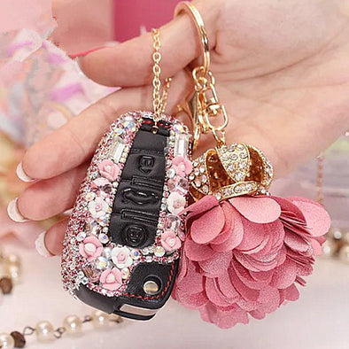 Bling Car Key Holder with Rhinestones for Audi Q3 tt A3 A6 A1 A4