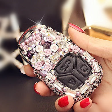 Bling Car Key Holder with Rhinestones for New Audi A4L Q7