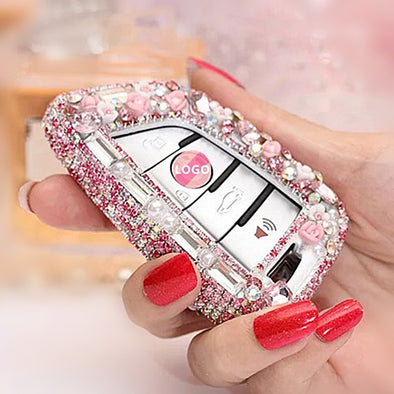 Bling Car Key Holder with Rhinestones for New BMW X5 X1 X6 525 530 730 740 Series
