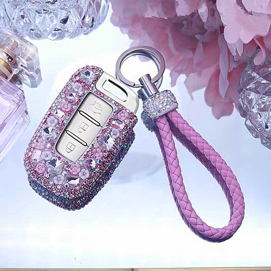 Hyundai Bling Car Key Holder with Rhinestones for ix25 ix35 sonata santa fei 3 buttons 4 buttons