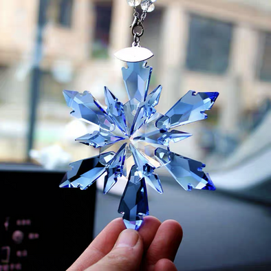 FROZEN Crystal Hanging Car Charm Mirror Ornaments-Bling Snowflake Pendant