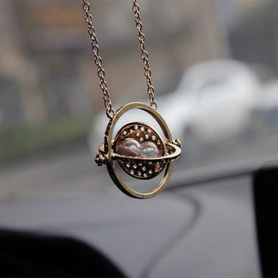 Bling Car Planet Charm Pendant - Universe Hourglass for Rearview Mirror