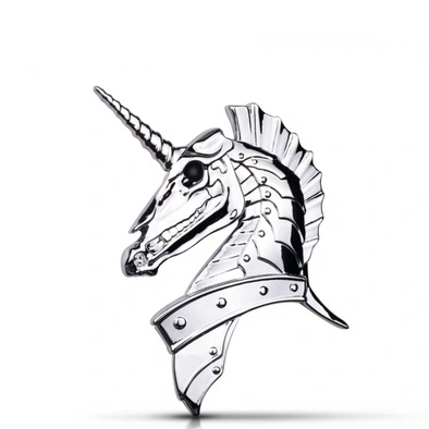 UNICORN 3D metal Chrome Emblem Badge Decal
