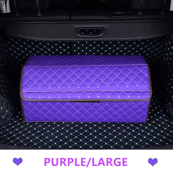 Girly Car Trunk Organizer - Purple