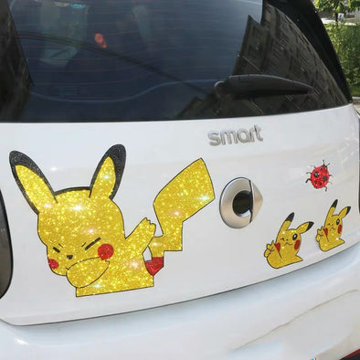 Bling Emblem Sticker Cute Pokemon for DIY decals