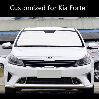 Windshield UV Sunshade Heatshield Custom Designed Custom-Fit for Kia Forte Sun shade