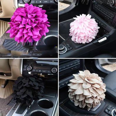 Chiffon Flower Bloom for Car Gear Shift Decoration