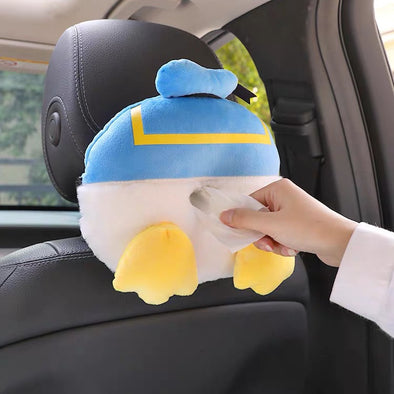 Donald duck bottom Car Seat Back Center Console Tissue Box - Funny car decoration