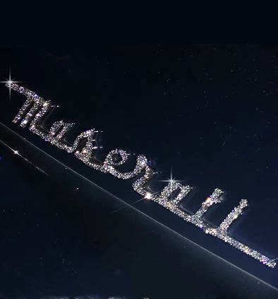 Maserati Bling LOGO Front or Rear Grille Emblem Made w/ Rhinestone Crystals