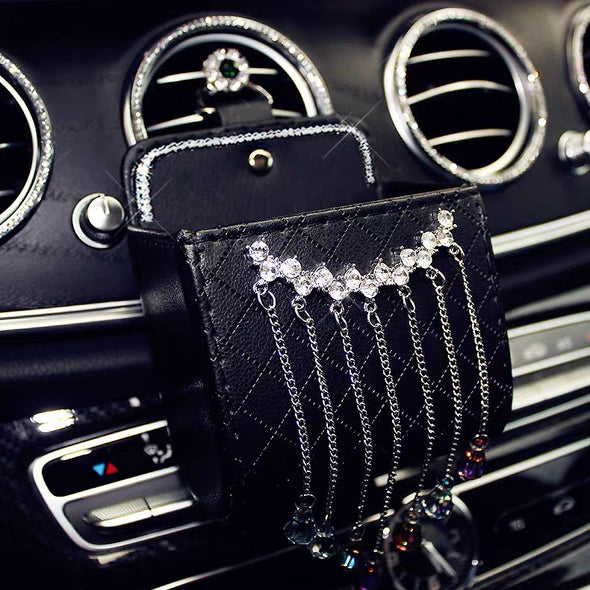 Phone Holder for Car with Bling Tassels